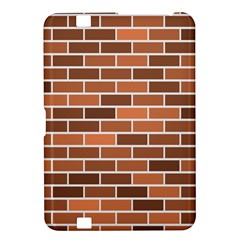 Brick Brown Line Texture Kindle Fire Hd 8 9  by Mariart
