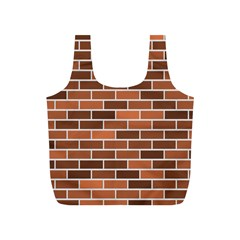 Brick Brown Line Texture Full Print Recycle Bags (s)  by Mariart
