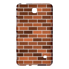 Brick Brown Line Texture Samsung Galaxy Tab 4 (8 ) Hardshell Case  by Mariart