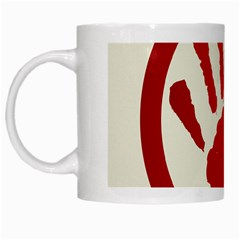 Bloody Handprint Stop Emob Sign Red Circle White Mugs by Mariart