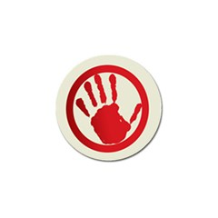 Bloody Handprint Stop Emob Sign Red Circle Golf Ball Marker by Mariart