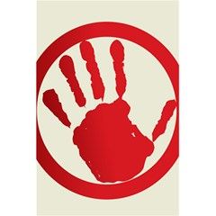 Bloody Handprint Stop Emob Sign Red Circle 5 5  X 8 5  Notebooks by Mariart