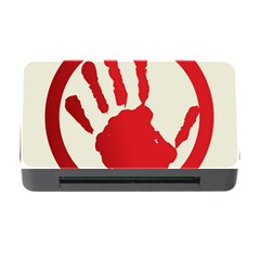 Bloody Handprint Stop Emob Sign Red Circle Memory Card Reader With Cf by Mariart