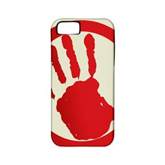 Bloody Handprint Stop Emob Sign Red Circle Apple Iphone 5 Classic Hardshell Case (pc+silicone) by Mariart