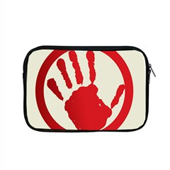 Bloody Handprint Stop Emob Sign Red Circle Apple Macbook Pro 15  Zipper Case by Mariart