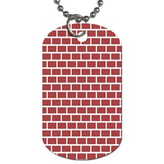 Brick Line Red White Dog Tag (two Sides) by Mariart