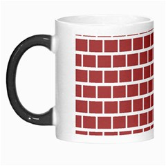 Brick Line Red White Morph Mugs by Mariart