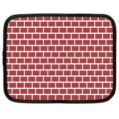 Brick Line Red White Netbook Case (xl)  by Mariart