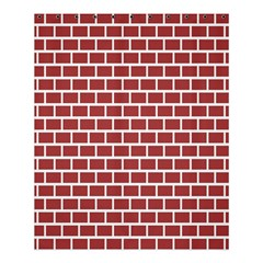 Brick Line Red White Shower Curtain 60  X 72  (medium)  by Mariart