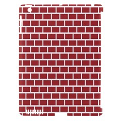 Brick Line Red White Apple Ipad 3/4 Hardshell Case (compatible With Smart Cover) by Mariart