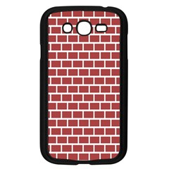 Brick Line Red White Samsung Galaxy Grand Duos I9082 Case (black) by Mariart