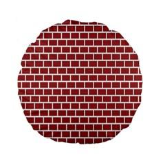 Brick Line Red White Standard 15  Premium Flano Round Cushions by Mariart