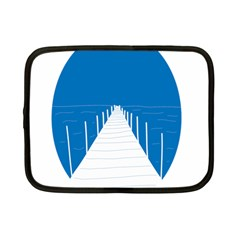 Bridge Sea Beack Blue White Netbook Case (small)  by Mariart