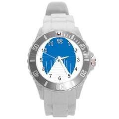 Bridge Sea Beack Blue White Round Plastic Sport Watch (l) by Mariart