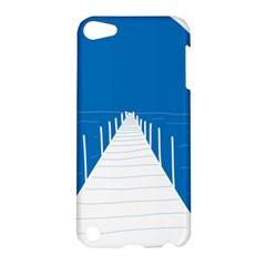 Bridge Sea Beack Blue White Apple Ipod Touch 5 Hardshell Case