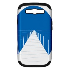 Bridge Sea Beack Blue White Samsung Galaxy S Iii Hardshell Case (pc+silicone) by Mariart