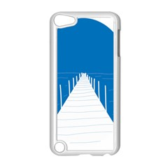 Bridge Sea Beack Blue White Apple Ipod Touch 5 Case (white)
