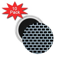 Bricks Black Blue Line 1 75  Magnets (10 Pack)  by Mariart