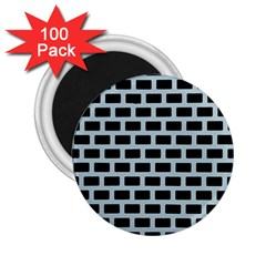 Bricks Black Blue Line 2 25  Magnets (100 Pack)  by Mariart