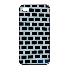 Bricks Black Blue Line Apple Iphone 4/4s Seamless Case (black) by Mariart