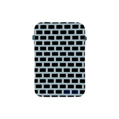 Bricks Black Blue Line Apple Ipad Mini Protective Soft Cases by Mariart