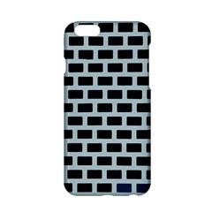 Bricks Black Blue Line Apple Iphone 6/6s Hardshell Case by Mariart