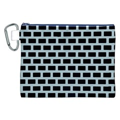 Bricks Black Blue Line Canvas Cosmetic Bag (xxl) by Mariart