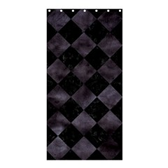 Square2 Black Marble & Black Watercolor Shower Curtain 36  X 72  (stall) by trendistuff