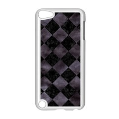 Square2 Black Marble & Black Watercolor Apple Ipod Touch 5 Case (white) by trendistuff