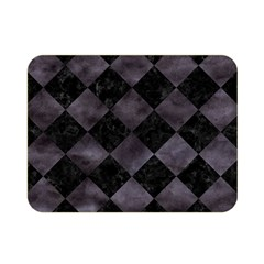 Square2 Black Marble & Black Watercolor Double Sided Flano Blanket (mini) by trendistuff