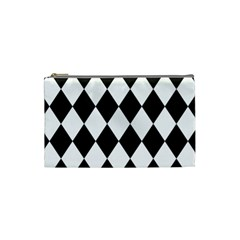 Broken Chevron Wave Black White Cosmetic Bag (small)  by Mariart