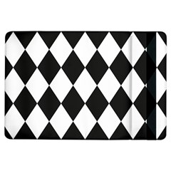Broken Chevron Wave Black White Ipad Air Flip by Mariart