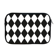 Broken Chevron Wave Black White Apple Macbook Pro 17  Zipper Case by Mariart