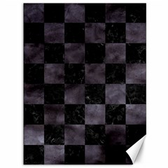 Square1 Black Marble & Black Watercolor Canvas 36  X 48  by trendistuff