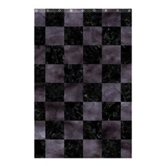 Square1 Black Marble & Black Watercolor Shower Curtain 48  X 72  (small) by trendistuff