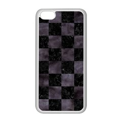 Square1 Black Marble & Black Watercolor Apple Iphone 5c Seamless Case (white) by trendistuff