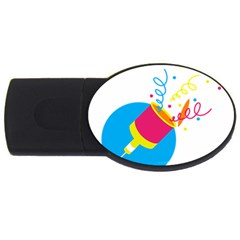 Celebration Injecting Usb Flash Drive Oval (4 Gb) by Mariart