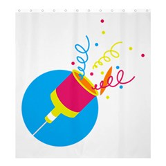Celebration Injecting Shower Curtain 66  X 72  (large)  by Mariart