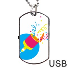 Celebration Injecting Dog Tag Usb Flash (two Sides) by Mariart