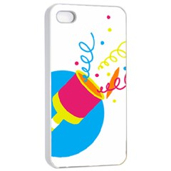 Celebration Injecting Apple Iphone 4/4s Seamless Case (white) by Mariart