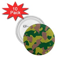 Camouflage Green Yellow Brown 1 75  Buttons (10 Pack) by Mariart