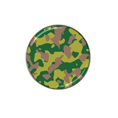 Camouflage Green Yellow Brown Hat Clip Ball Marker by Mariart