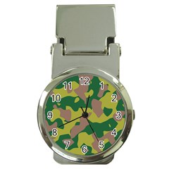 Camouflage Green Yellow Brown Money Clip Watches by Mariart