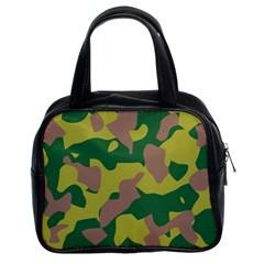Camouflage Green Yellow Brown Classic Handbags (2 Sides) by Mariart