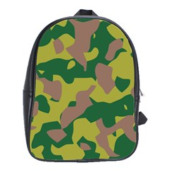 Camouflage Green Yellow Brown School Bags(large)  by Mariart