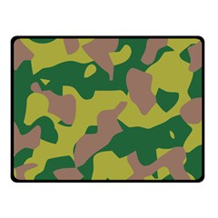 Camouflage Green Yellow Brown Fleece Blanket (small) by Mariart