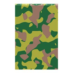 Camouflage Green Yellow Brown Shower Curtain 48  X 72  (small)  by Mariart