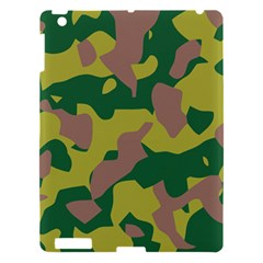 Camouflage Green Yellow Brown Apple Ipad 3/4 Hardshell Case by Mariart