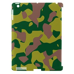 Camouflage Green Yellow Brown Apple Ipad 3/4 Hardshell Case (compatible With Smart Cover) by Mariart