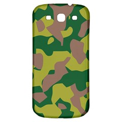 Camouflage Green Yellow Brown Samsung Galaxy S3 S Iii Classic Hardshell Back Case by Mariart